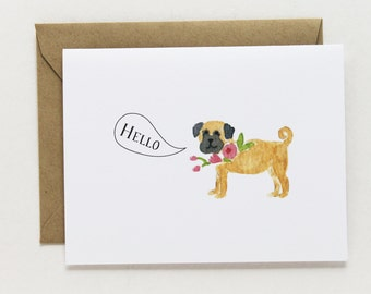 Any Occasion Card - Hello Pug Card