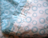 Circle Dots in Blue - Stroller Blanket and Security Blanket
