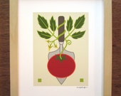 Trowel Tomato Art Print