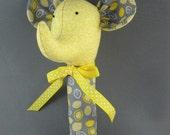 Fabric Elephant Baby Rattle Softie