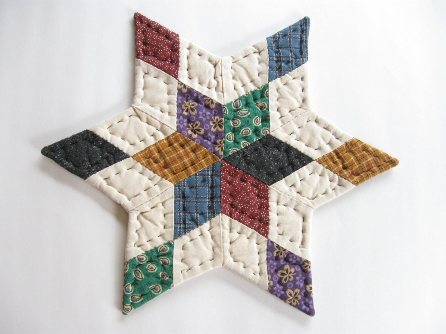 Free Patterns For Quilted Candle Mats : Quilted Candle Mat Primitives Country Decor Quilted Table Mat