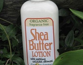 Unscented Shea Butter Lotion, with organic shea butter and soothing organic colloidal oatmeal, fragrance free for sensitive skin