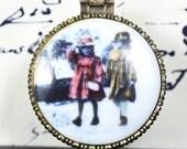 Little keepsake...    Tiny Jewelry box....  two girls...   L Bag 3