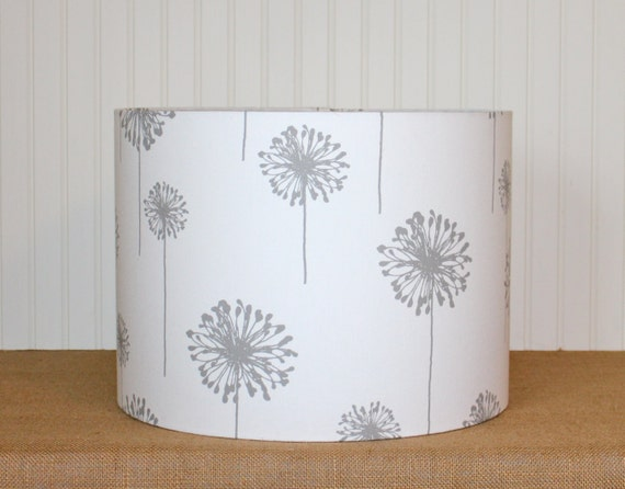Drum Lamp Shade Lampshades Grey Dandelion Made To Order