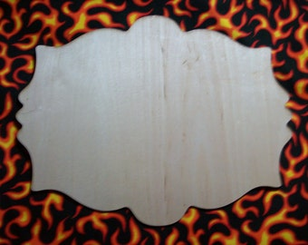 Unfinished wood wooden plaque style P23 - available in 8 different sizes