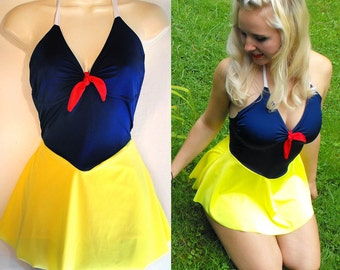 Snow White Bathing Suit // Snow White One Piece Swimsuit // Snow White Costume MADE TO ORDER