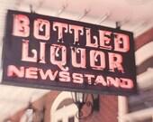 Neon Signage, whimsical art print, retro, Viva Las Vegas, Americana, vintage art, signage, black, red, abstract art, fun fine art photograph