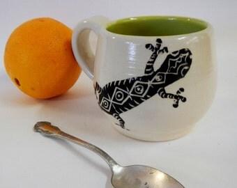 Gecko Stoneware Mug