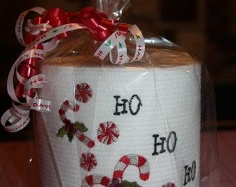 Ho Ho Ho Embroidered Toilet Paper