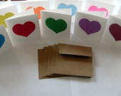 Valentine's Day Cards   Plantable Seed Paper Mini Card Set in Rainbow Assortment