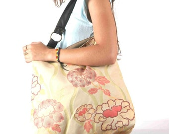 Colorful hobo bag, large handmade canvas over shoulder bag for women and girls, Maxi May (1)