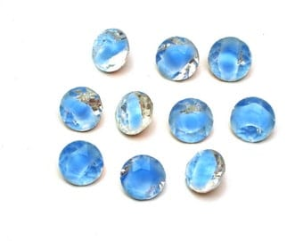 Givre Blue Clear, Rhinestones-60ss, TP Dentelles, New Old Stock, x10