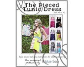 Diy Pdf Pattern and Tutorial - The Pieced Tunic or Dress - Sizes XS to XL