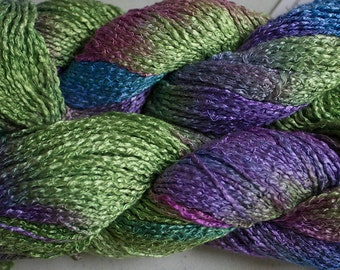 Finch, Hand-dyed Rayon Boucle Yarn, 225 yds - Nepeta