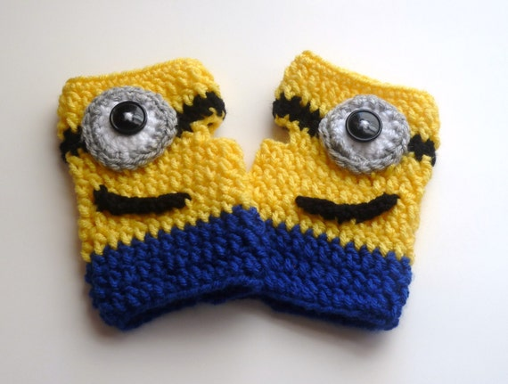 Minion Mitts Despicably Cozy and Cute Crochet Fingerless