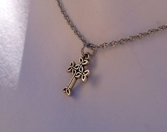Small celtic cross necklace