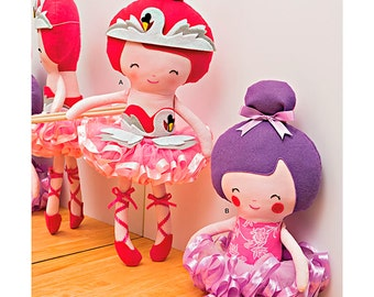 Precious Stuffed Dolls - Simplicity 1341 - Designer Toy Sewing Pattern