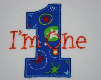 I'm One birthday onesie, made to order