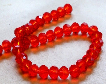 Wonderful Red  8mm Faceted Round Crystal Beads  8mm