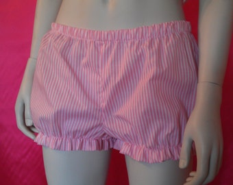 size UK 12 pink and white stripe shortie bloomers