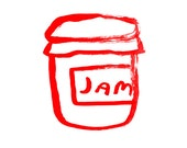 Jam fine art print in red
