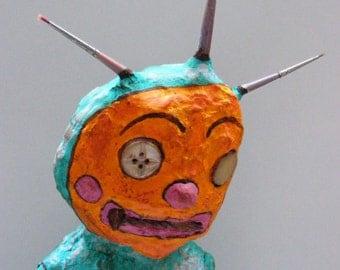 Odds N Ends Primitive Folk Art Doll Sculpture