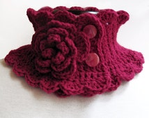 Knitted Neck Warmer- Knitted Scarf, Hand Knit Scarf Neckwarmer, Hand ...