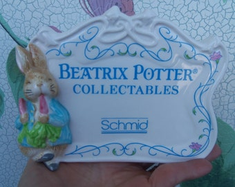Vintage Beatrix Potter Collectibles Porcelain/Ceramic Display Sign from Rustysecrets
