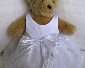 Teddy Bear Clothes, Lucine Organza Dress & Head Ribbon