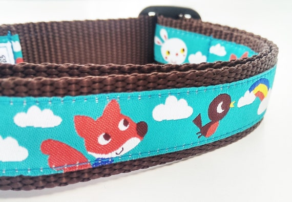 Friendly Skies - Dog Collar / Handmade / Adjustable / Pet Accessories / Fox