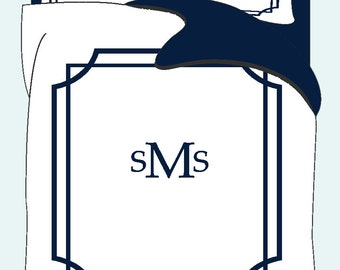 Simplicity Mitre Corner Duvet & Shams- Queen size - Your Choice of Colors