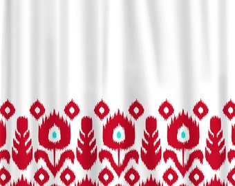 Red And Turquoise Shower Curtain. Custom Shower Curtain Color With White And Accent If Desired Extraordinary Red Turquoise Images  Best