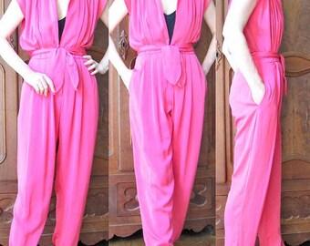 Vintage Hot Pink Jumpsuit