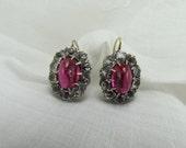 Circa 1920 Pink Paste Earrings