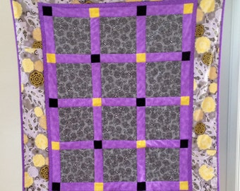 Lovely Crib or Lap Quilt, Fresh Spring Colors