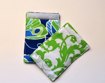 Luggage Handle Wraps set of two reversible Jazz Butterfly green brocade  travel gift teacher gift Quiltsy Handmade