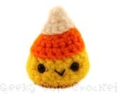Candy Corn Amigurumi Crocheted Candy Toy Plush Fall Halloween