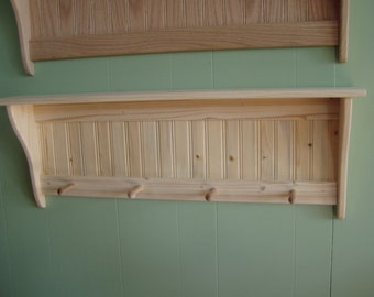 Country Rustic Pine Wood Wall Shlef Shaker 36 Inch Unfinished