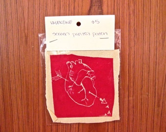 Valentine Anatomical Heart Patch, Sew or Iron