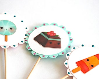 Kawaii Sweet Shop - Cupcake Toppers
