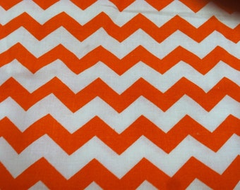 Chevron print fabric orange