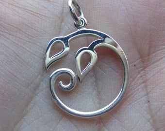 Sterling Silver Round Leaves Pendant(one)You choose which one