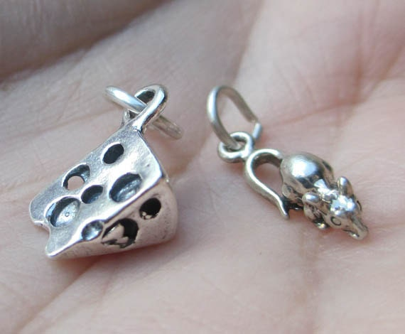Sterling Silver Mouse or Swiss Cheese(you choose the quantity)