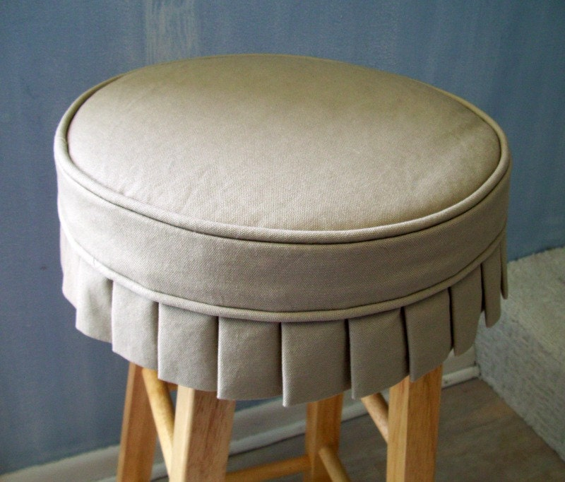Tan Canvas Barstool Slipcover with knife pleat skirt Bar Stool : ilfullxfull59317207173iv from www.etsy.com size 800 x 682 jpeg 136kB