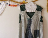 1XL Powhatten-Plus Size Clothes /Womens Dresses/Tunic/ Dress / Tattered Artsy Dress / Upcycled Clothing by Unicycle Assembly