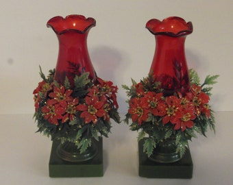 Two Vintage Christmas Lamps 1950's