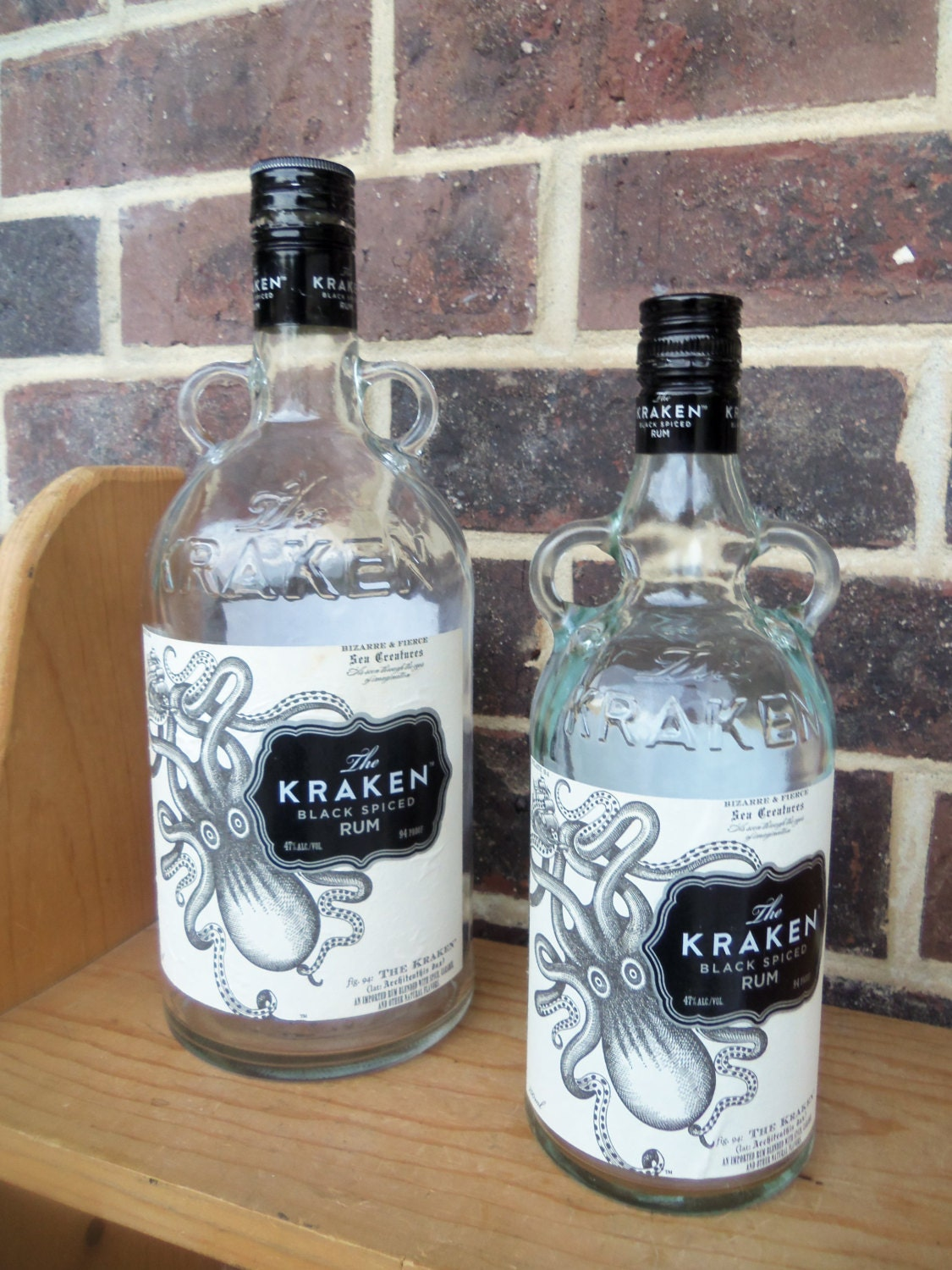 Empty Bottles The Kraken Black Spiced Rum Octopus By