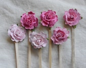 Cupcake toppers, party picks perfect for Spring or Gender Reveal Party.
