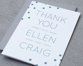 Personalized Stationery/Custom Stationary Set- Confetti