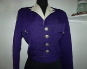 Purple vintage marching band jacket